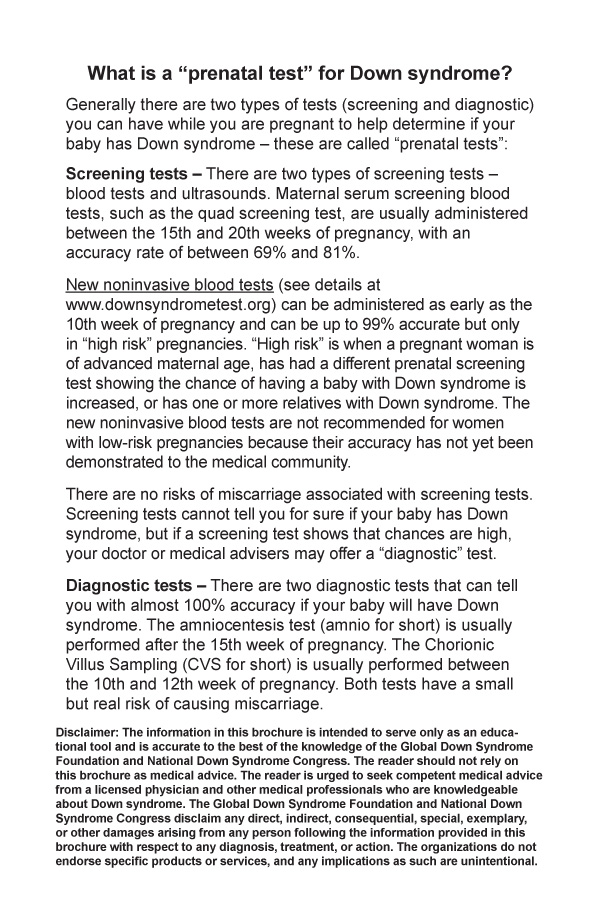 downs syndrom test